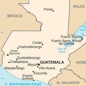 Map of Guatemala--Guatemala faces new political crisis related to financial crimes and alleged corruption in the government.
